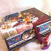 Для дома и интерьера ручной работы. Ярмарка Мастеров - ручная работа Большая шкатулка для чая. Handmade.