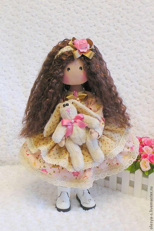 Коллекционные куклы ручной работы. Ярмарка Мастеров - ручная работа. Купить Textile doll Sofia. Handmade. Бледно-розовый