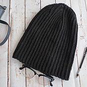 Аксессуары ручной работы. Ярмарка Мастеров - ручная работа Мужская вязаная шапка бини. Handmade.