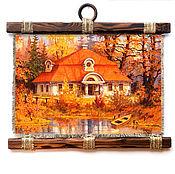 """Картины и панно ручной работы. Ярмарка Мастеров - ручная работа Универсальный свиток """"Оранжевый домик"""". Handmade."""