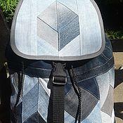 Сумки и аксессуары handmade. Livemaster - original item Backpack denim 3D. Handmade.