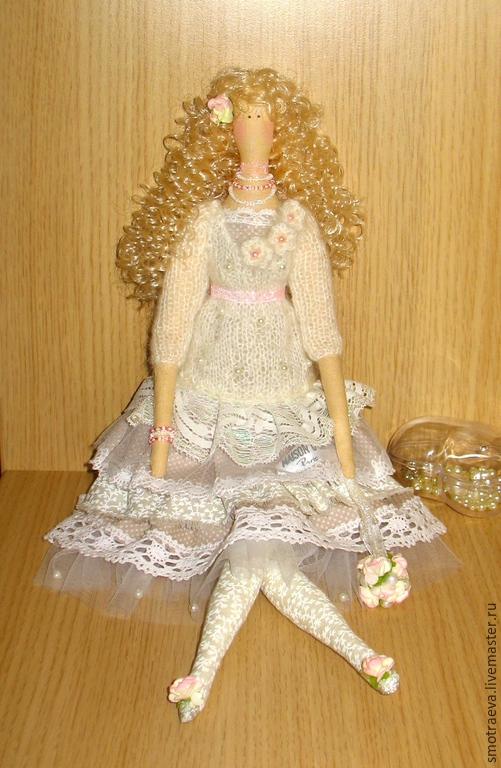 Куклы Тильды ручной работы. Ярмарка Мастеров - ручная работа. Купить Кукла интерьерная (шебби шик). Handmade. Бежевый, кружево