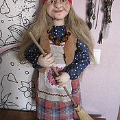 Куклы и игрушки handmade. Livemaster - original item interior doll: Grandma ezhka. Handmade.