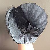 Аксессуары manualidades. Livemaster - hecho a mano El sombrero con un velo gris-negra. Handmade.