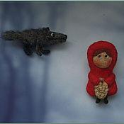 Украшения ручной работы. Ярмарка Мастеров - ручная работа Красная шапочка и серый волк.. Handmade.