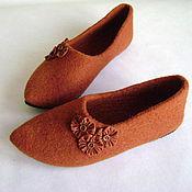 Обувь ручной работы. Ярмарка Мастеров - ручная работа Тапочки Терракот. Handmade.