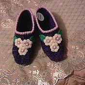 Обувь ручной работы. Ярмарка Мастеров - ручная работа вязаные тапочки. Handmade.