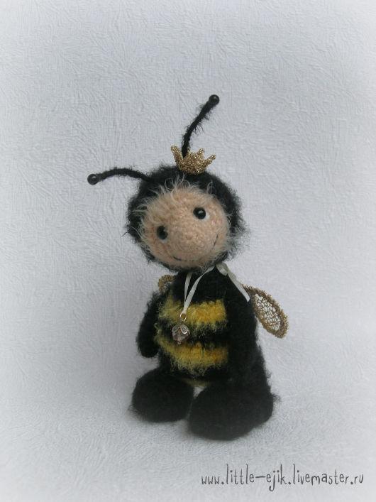 Игрушки животные, ручной работы. Ярмарка Мастеров - ручная работа. Купить пчелка Динка. Handmade. Черный, желто-черный, подарок