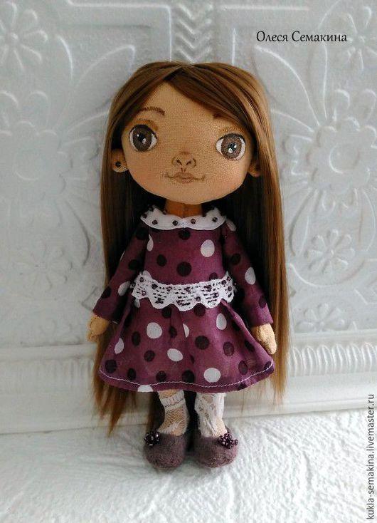 Куклы тыквоголовки ручной работы. Ярмарка Мастеров - ручная работа. Купить Платьице в горошек. Handmade. Комбинированный, кукла ручной работы