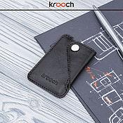 Business card holders handmade. Livemaster - original item Cardholder leather MICRON. Handmade.