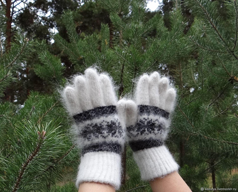 Зимние-вязанные- тёплые перчатки шерсть с пухом №4, Перчатки, Урюпинск,  Фото №1