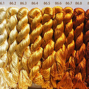 Материалы для творчества ручной работы. Ярмарка Мастеров - ручная работа Нитки для вышивания, шёлк 100%. Handmade.