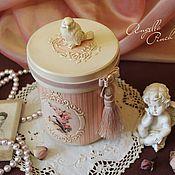 """Для дома и интерьера ручной работы. Ярмарка Мастеров - ручная работа Банка из липы """"Розовый флёр"""". Handmade."""