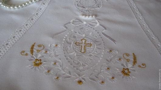 Крестильные принадлежности ручной работы. Ярмарка Мастеров - ручная работа. Купить Набор дизайнов для крестильного платья и чепчика в винтажном стиле. Handmade.