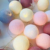 Настенные светильники ручной работы. Ярмарка Мастеров - ручная работа Настенные светильники: тайские гирлянды из шаров. Handmade.