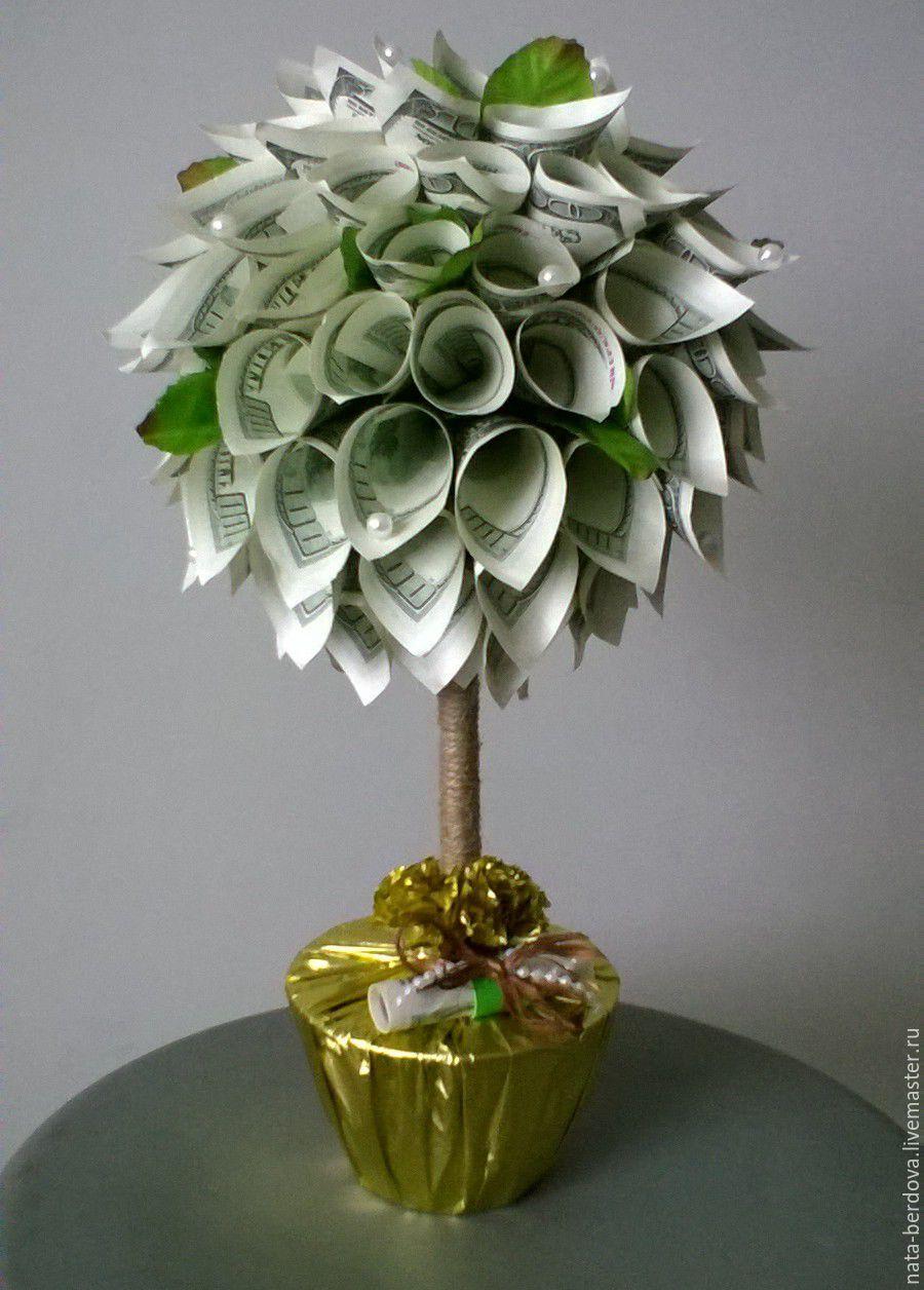 Топиарий денежное дерево из купюр своими руками фото 853
