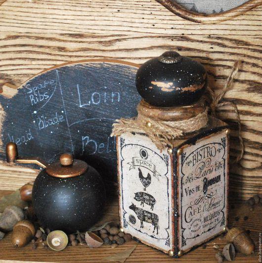 Кухня ручной работы. Ярмарка Мастеров - ручная работа. Купить Parisienne короб-банка для сыпучих. Handmade. Черный, банка для кофе
