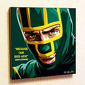 Картины и панно handmade. Livemaster - original item Painting Pop Art Kick. Handmade.