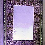Для дома и интерьера ручной работы. Ярмарка Мастеров - ручная работа зеркало Фиолетово - коричневое. Handmade.