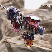 Украшения handmade. Livemaster - original item Enchanted forest - brooch pin glass branch lampwork. Handmade.