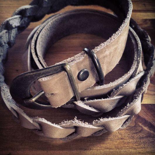 Пояса, ремни ручной работы. Ярмарка Мастеров - ручная работа. Купить Ремень беж 73 - 86. Handmade. Бежевый