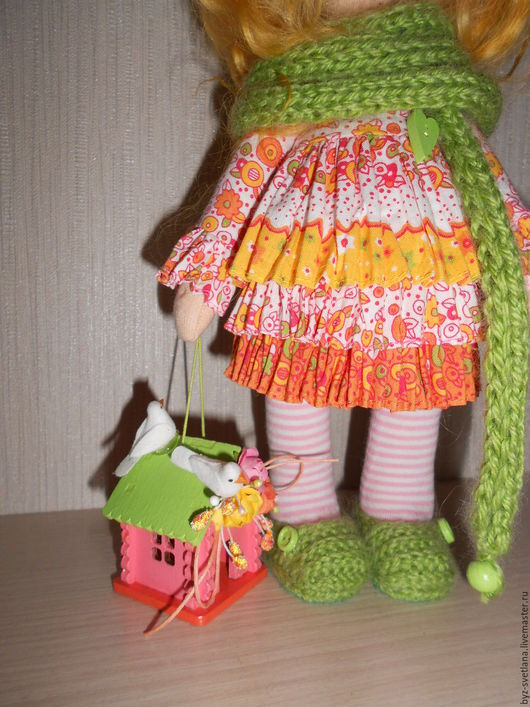 Коллекционные куклы ручной работы. Ярмарка Мастеров - ручная работа. Купить Кукла интерьерная. Handmade. Подарок на день рождения, птички