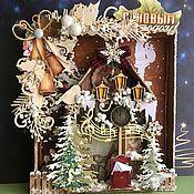 Сувениры и подарки handmade. Livemaster - original item Christmas gifts: Decorative panel Winter fairy tale. Handmade.