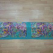 Ткани ручной работы. Ярмарка Мастеров - ручная работа Ньюанс двойной лоскут Павловопосадского платка 65 шелк. Handmade.