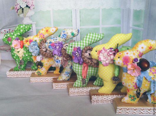 Игрушки животные, ручной работы. Ярмарка Мастеров - ручная работа. Купить кролики пасхальные  (6 вариантов). Handmade. Комбинированный, джут