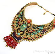 Necklace handmade. Livemaster - original item Egyptian necklace with red coral. Handmade.