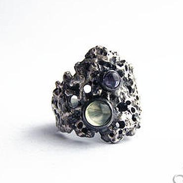 """Украшения ручной работы. Ярмарка Мастеров - ручная работа Кольцо из серебра """"Метеорит"""", широкое серебряное кольцо. Handmade."""