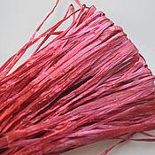 Материалы для творчества handmade. Livemaster - original item Raffia for embroidery 5 mm, India, 3 meters. Handmade.