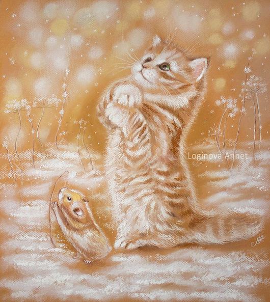 Животные ручной работы. Ярмарка Мастеров - ручная работа. Купить Снежинки ловить. Handmade. Зима, друзья, рыжий котенок