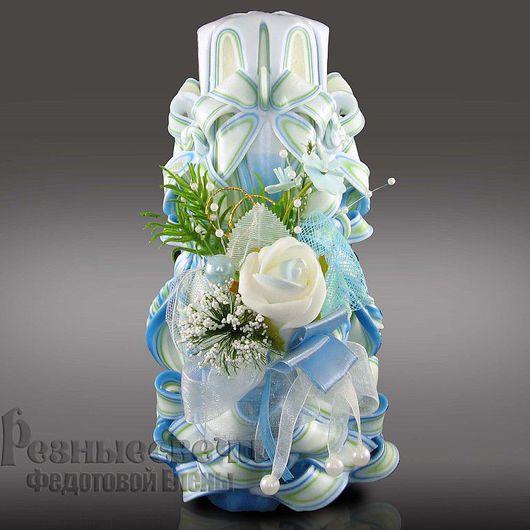 Резная  свеча свадебная  ручной работы -  Свадебный букет большая.Резные свадебные свечи.Резные свечи.Свечи резные.Интерьерные свечи. Свадебные резные свечи.