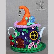 """Для дома и интерьера ручной работы. Ярмарка Мастеров - ручная работа Грелка на чайник """"Ягодный домик"""" (с чайником). Handmade."""