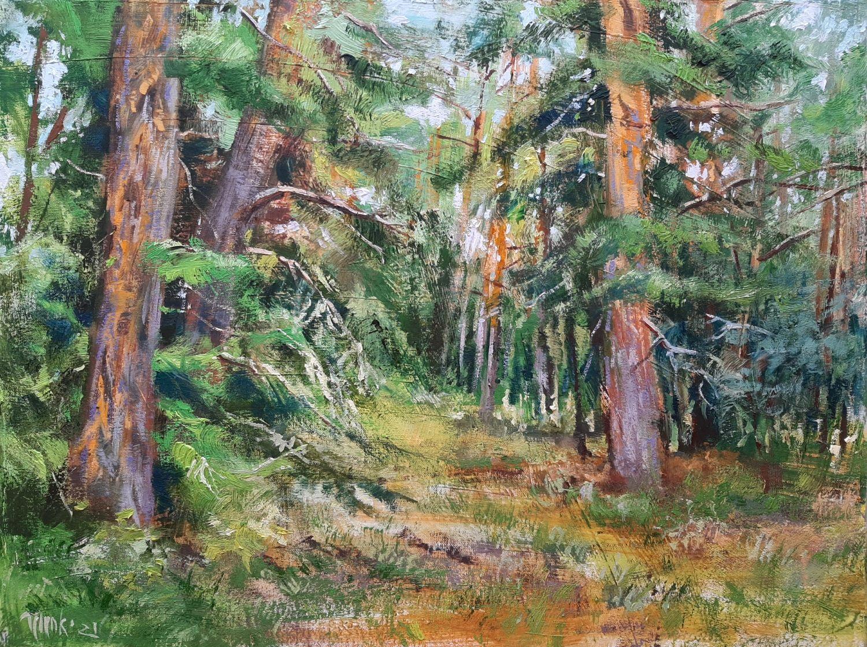 """Картина маслом на холсте """"Сосновый лес"""", Картины, Новороссийск,  Фото №1"""
