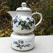 handmade. Livemaster - original item Teapot with stand - burner Villeroy&Boch, Botanica, Luxembourg. Handmade.
