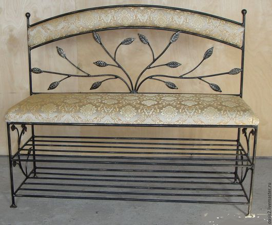 """Мебель ручной работы. Ярмарка Мастеров - ручная работа. Купить Банкетка-диванчик """"Тополиный пух"""". Handmade. Золотой, для гостиной, сталь"""