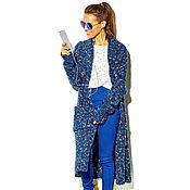 Одежда handmade. Livemaster - original item Blue heathered cardigan. Handmade.