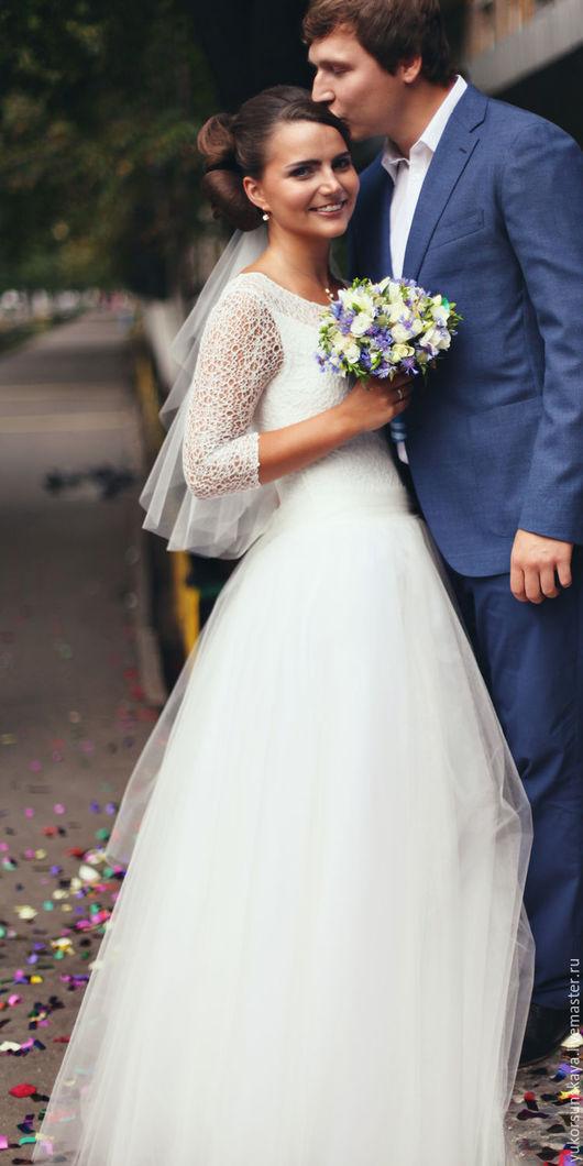 Одежда и аксессуары ручной работы. Ярмарка Мастеров - ручная работа. Купить Платье свадебное. Handmade. Белый, белое свадебное платье