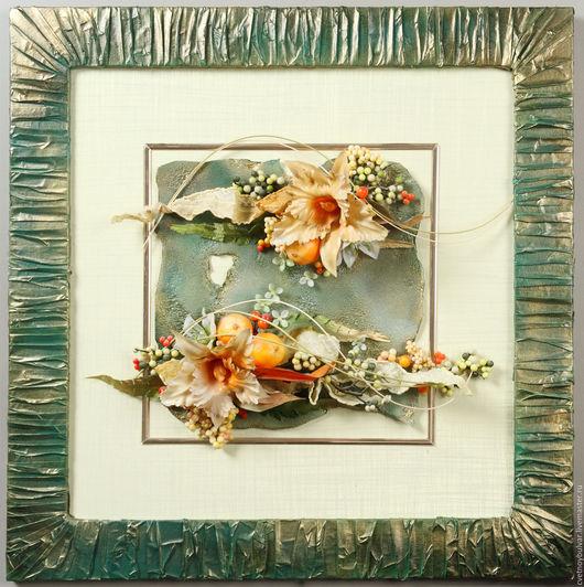 Картины цветов ручной работы. Ярмарка Мастеров - ручная работа. Купить Яблочный спас. Handmade. Комбинированный, мятный цвет