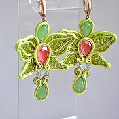 Украшения handmade. Livemaster - original item Soutache earrings Silenia. Handmade.