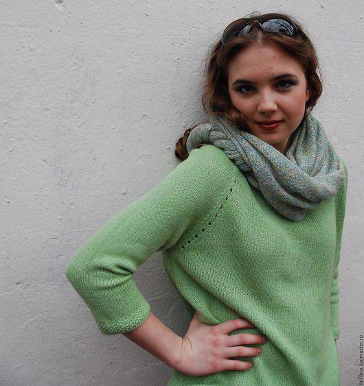Кофты и свитера ручной работы. Ярмарка Мастеров - ручная работа. Купить Демисезонный свитер Зеленое яблоко. Handmade. Салатовый, шерсть