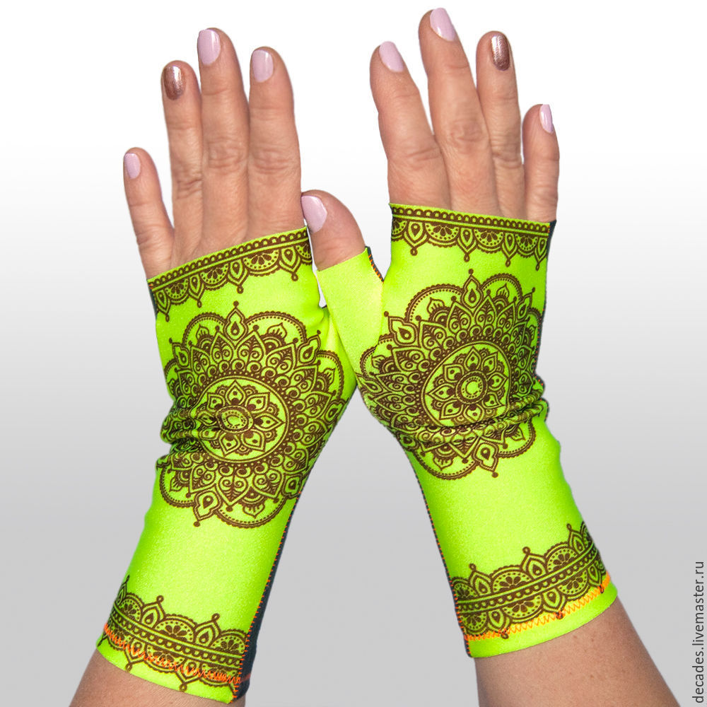 Mehendi yellow mitts, Mitts, Moscow,  Фото №1