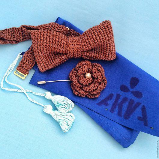 Галстуки, бабочки ручной работы. Ярмарка Мастеров - ручная работа. Купить Бабочка-галстук. Handmade. Коричневый, шоколадная бабочка, галстук