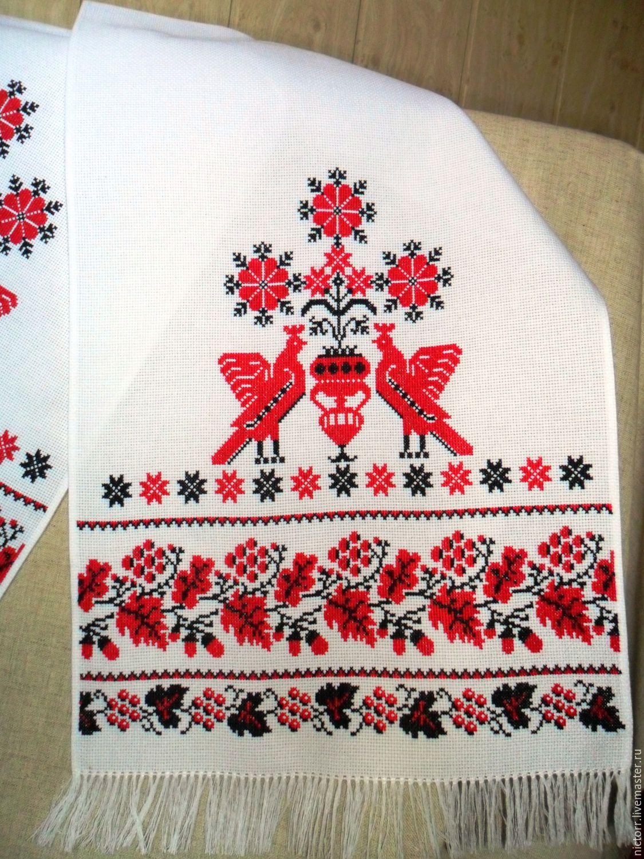 Вышивка на полотенце для свадьбы 8