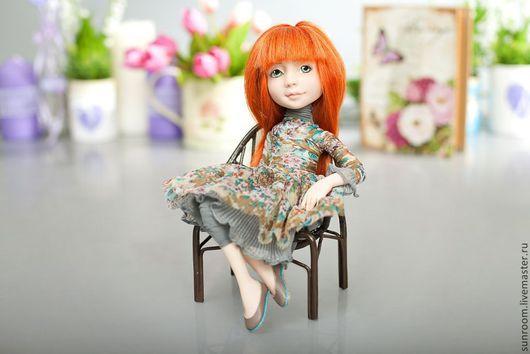 """Коллекционные куклы ручной работы. Ярмарка Мастеров - ручная работа. Купить По мотивам """"Домашнее настроение"""". Handmade. Серый, кукла"""