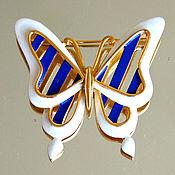 Винтаж handmade. Livemaster - original item Bright Butterfly brooch from Trifari. Handmade.