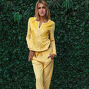 Одежда handmade. Livemaster - original item Stylish suit in Petko Yellow. Handmade.