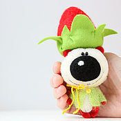 Куклы и игрушки ручной работы. Ярмарка Мастеров - ручная работа Клубничный король - миниатюрный мишка тедди - подарок!. Handmade.